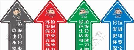 拉风侠四分类标识地标箭头图片