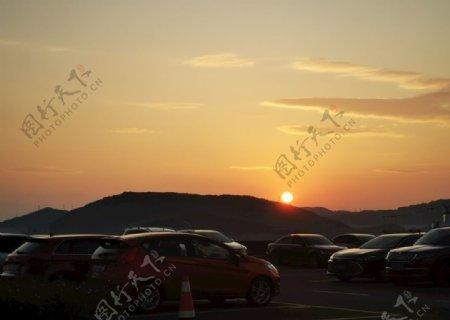 日落日出图片