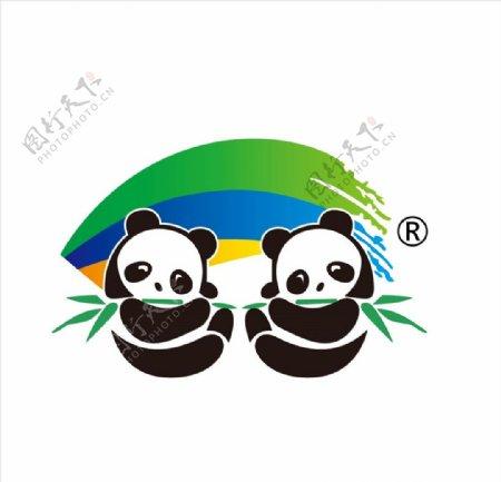 双熊猫商标图片