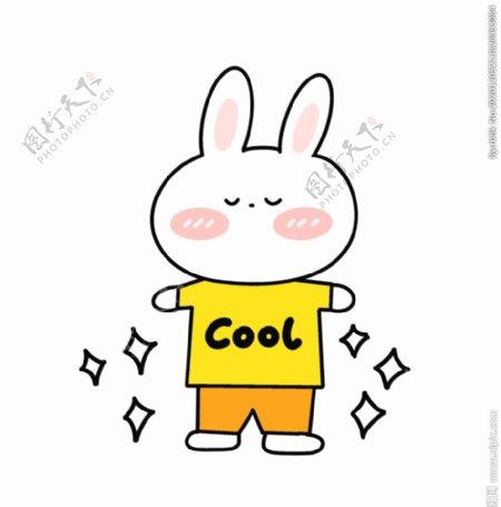 兔子手绘插画图片