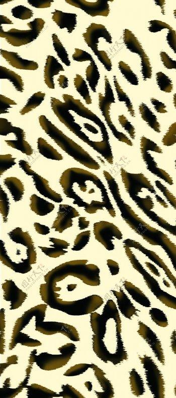 大牌豹纹四方连续数码印花图片