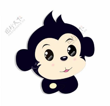 卡通可爱猴子插画图片