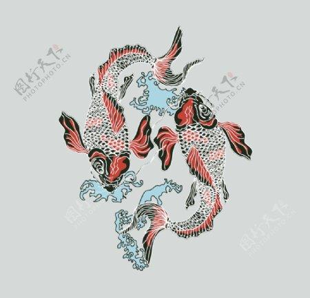 中国风锦鲤观赏鱼水族馆图片