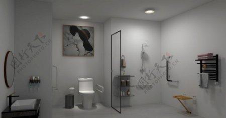 老人浴室图片