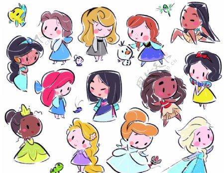 迪士尼公主卡通动漫T恤图片