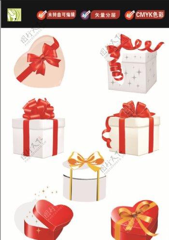 活动礼盒矢量图图片