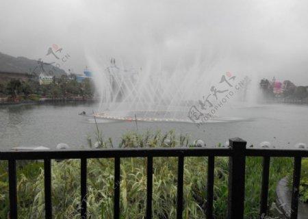 音乐喷水池图片