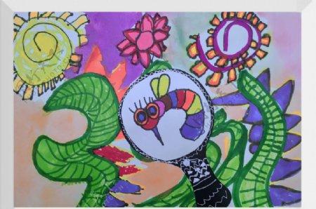儿童绘画手绘彩色涂鸦图片