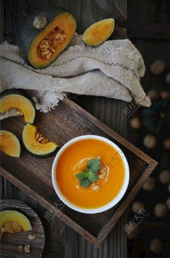 甜品南瓜美食摄影图片