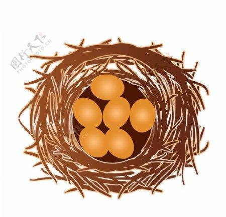 鸟巢鸟窝元素图片