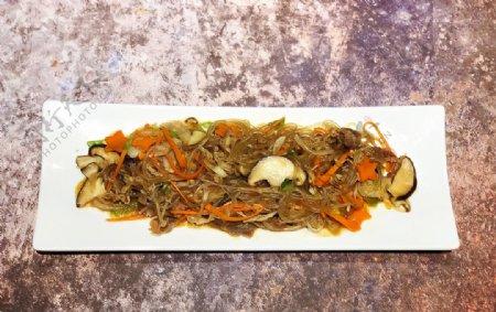 牛肉杂菜韩餐图片