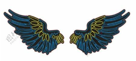 天使的翅膀CDR矢量图霓虹灯图片