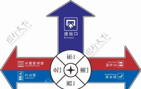 高铁车站路标图片