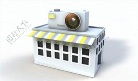 C4D模型相机房子图片