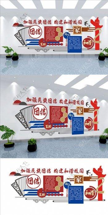 民族团结文化墙图片