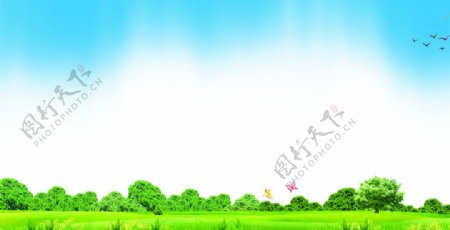 清新愉悦绿色宣传背景图片