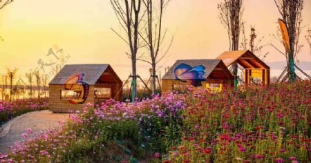 磁县溢泉湖风景图片