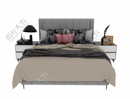 豪华床铺3d模型图片