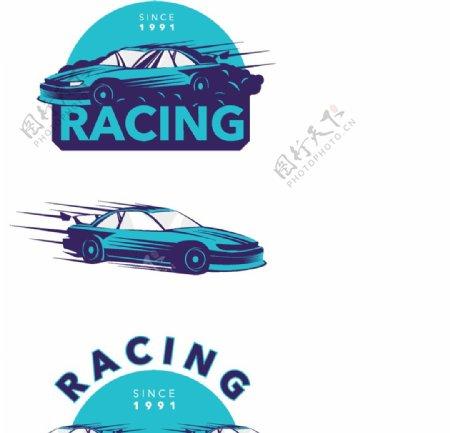 手绘赛车标志图片