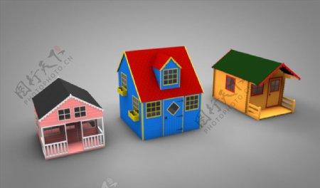 C4D模型小房子图片