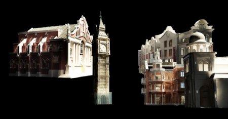 免抠欧式建筑素材图片