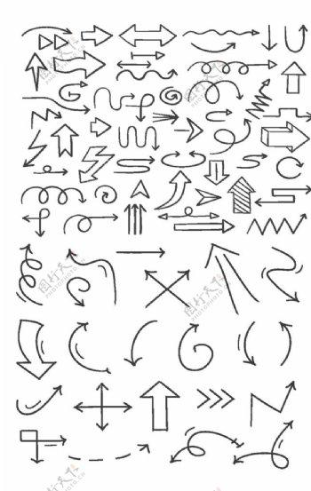 线形箭头图标图片