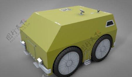 C4D模型装甲车坦克图片
