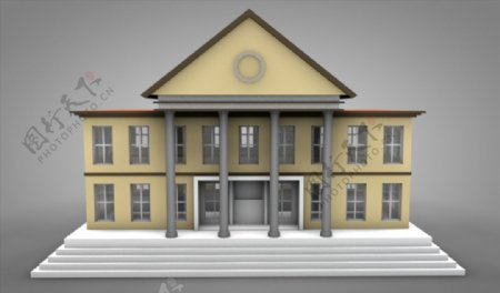 C4D模型宫殿房子议会图片
