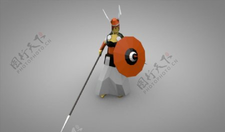 C4D模型古代骑士图片