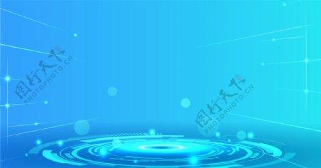 蓝色科技动感创意背景图片