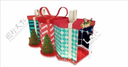 通道圣诞礼盒美陈图片