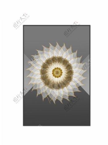 几何图形羽毛装饰画图片