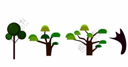 小树矢量图图片