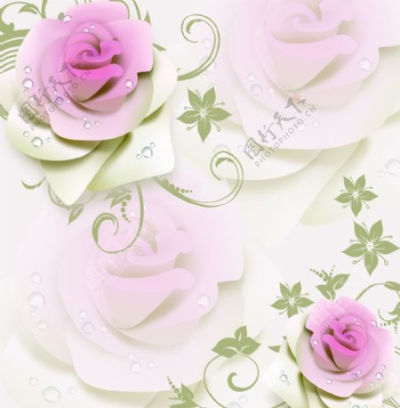 3D立体玫瑰图片