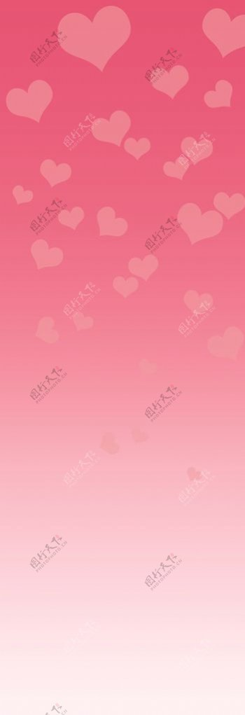 粉色爱心渐变背景图片