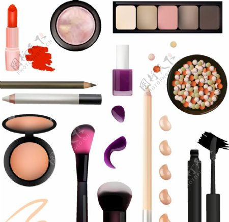 各式各样化妆品图片
