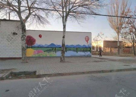 村庄围墙图片