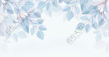 油画树枝树叶图片