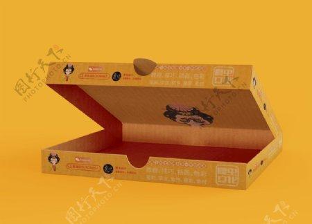 披萨盒样机图片