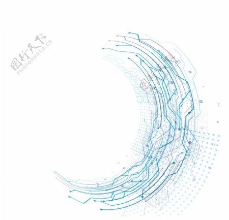抽象科技蓝色背景图片