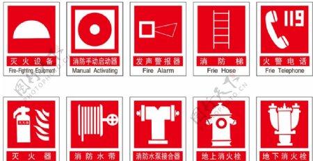 消防标志图片