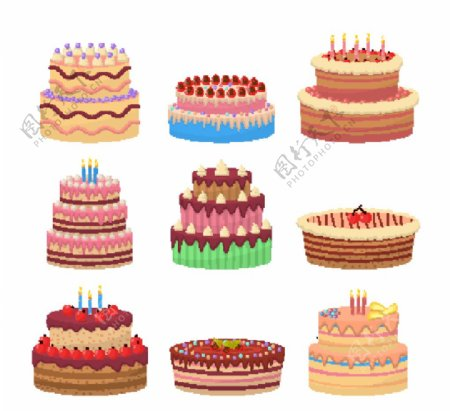 生日蛋糕元素图片