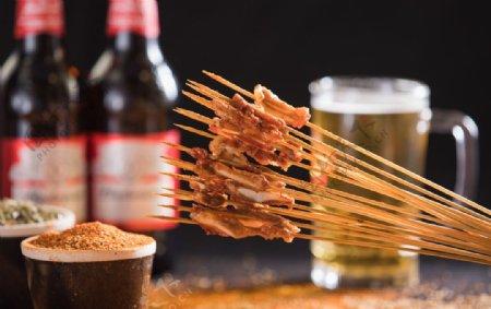 烧烤烤串肉串图片
