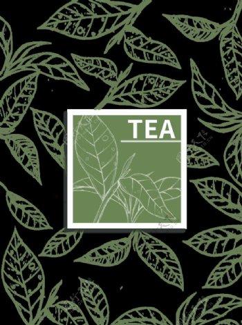 茶叶线条图片