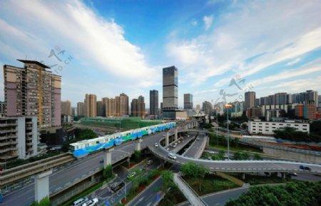 重庆轻轨列车图片