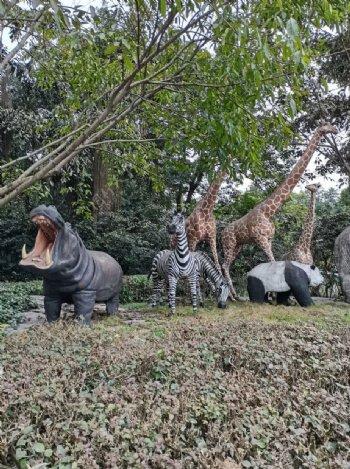 动物园雕塑图片