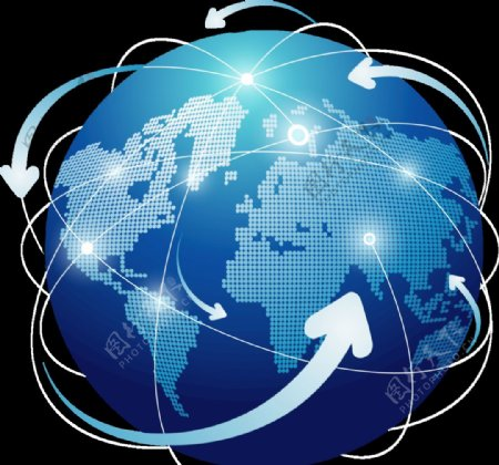 地球销售区域全球化图片