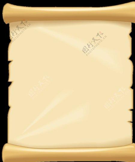 牛皮纸卷轴图片