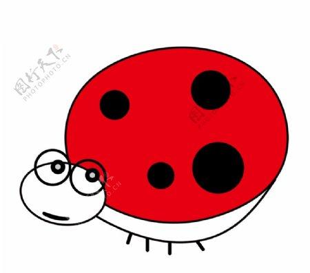 卡通简笔画瓢虫图片