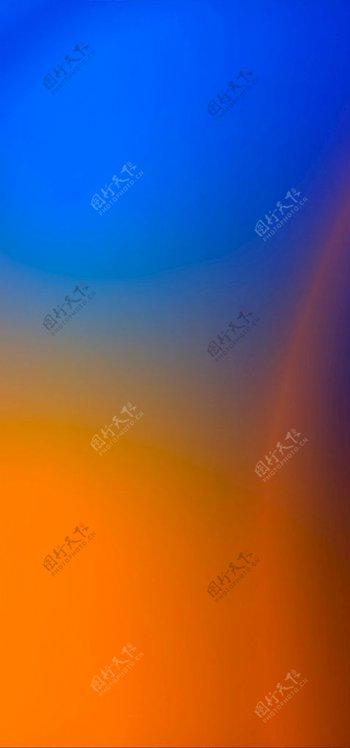 蓝橙背景图片